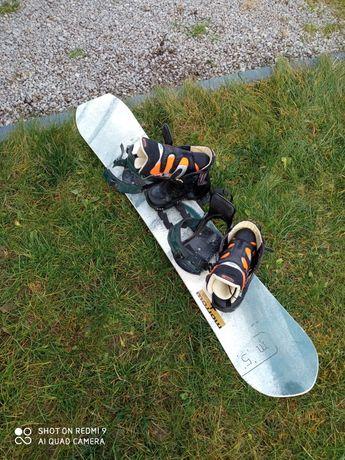 Snowboard Morrow 155+wiązania+buty Burton 38