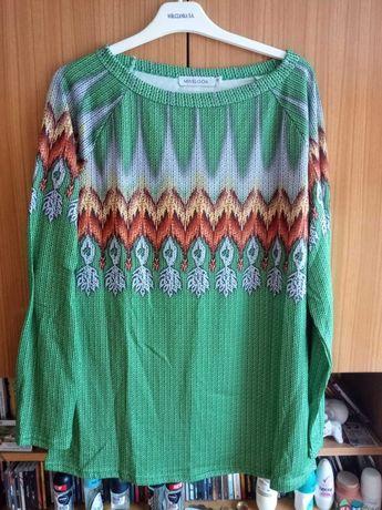 MARKA MISSLOOK  Bluzka z długim rękawem kolor zielony