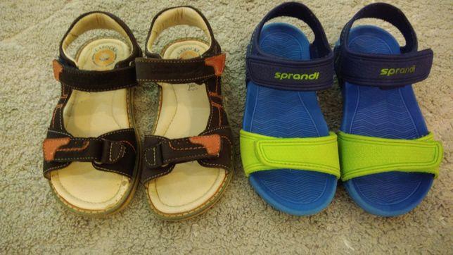 2 pary Buty sandały skórzane i piankowe Lasocki, Sprandi  dł 18 cm