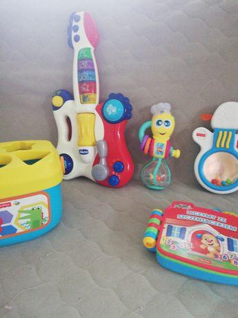 Fisher price, chicco zabawki interaktywne