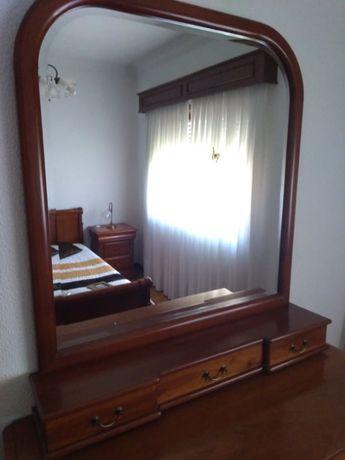 Espelho c/ 3 gavetas madeira Cerejeira