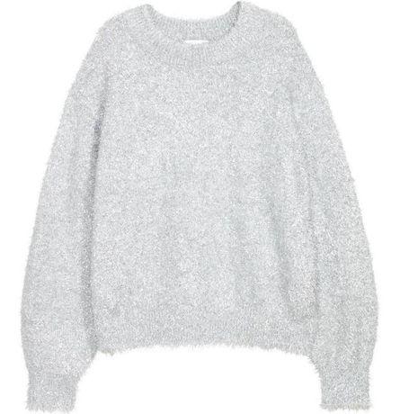 Серебряный демисезонный свитер H&M