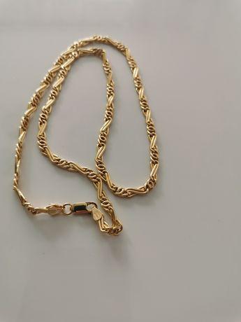 Piękny złoty łańcuszek 50 cm próba 750