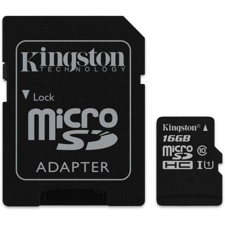 Cartão de Memória Kingston de 16GB (disponível também de 32GB/ 64GB)