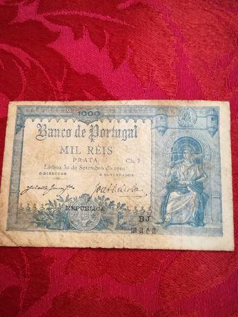 Notas de 1000 réis (30/09/1910) - Banco de Portugal