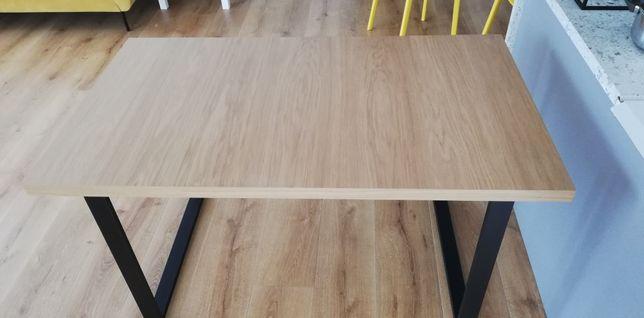 Stół z dostawianym blatem, metalowe nogi