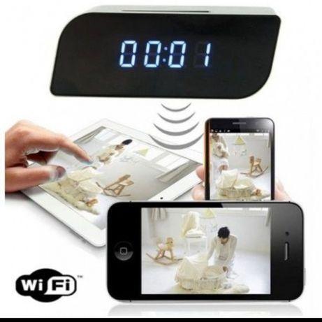 Kamera szpiegowska budzik zegarek wifi Hd podsluch na smartfon Nowy