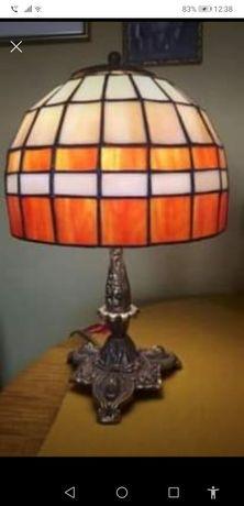 Lampa stołowa witrażowa szkło