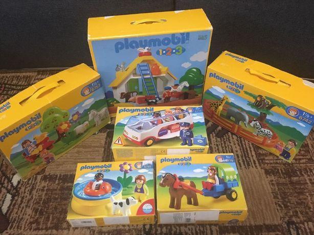 Playmobil 1.2.3 автобус, ферма, бассейн, машины