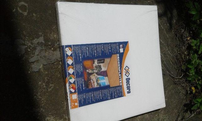 Пенопласт декоративный белый, плита 50х50см, толщина 4- Цена снижена