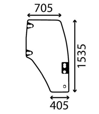 Szyba drzwi prawe CASE NEW HOLLAND FIAT 8203.6000