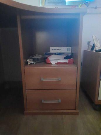 Secretária para escritório/ quarto com 2 módulos com arrumação