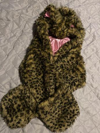 Czapka włochata dla dziecka misiu uszy z szalikiem obw 70 cm