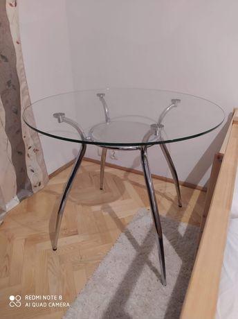 Stolik ze szklanym blatem 90, szkło