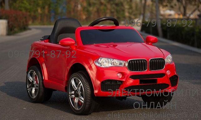 Детский электромобиль BMW X5+КОЖА+РЕЗИНА+Пульт дитячий електромобіль