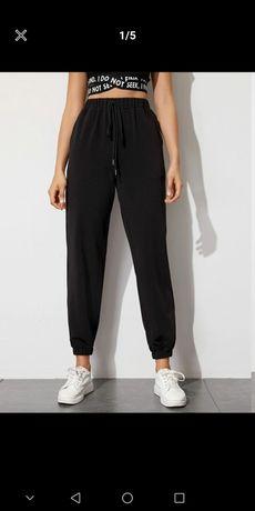 Czarne dresy damskie XS