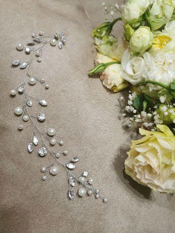 Украшение на волосы свадебное веточка