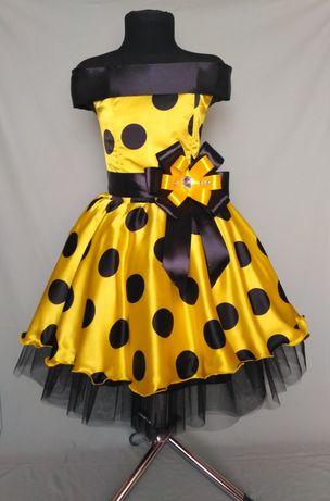 Ретро платье для девочки. Платье в горох. Стиляги. Выпускное платье