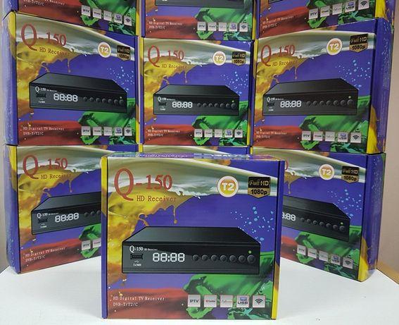 Новый цифровой тюнер приставка Т2 DVB-T2 Q-Sat Q-150 IPTV YouTube MeGo