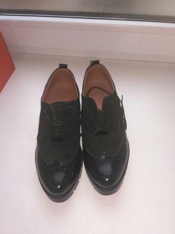 Туфли замшевые, натуральные.