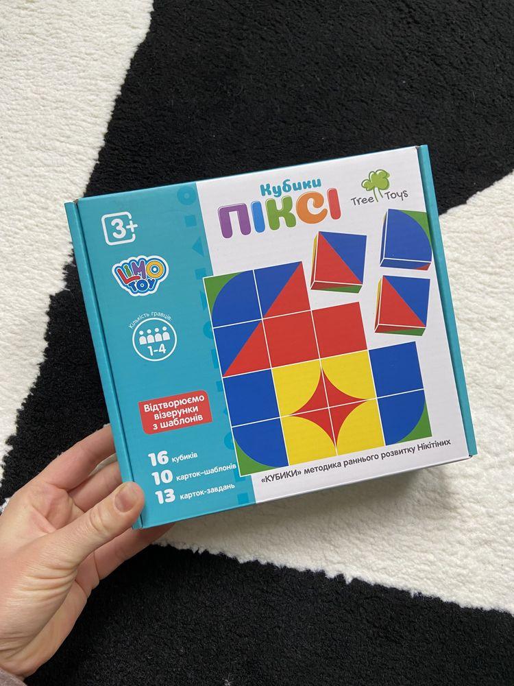 Логические кубики, пикси кубики, деревянная логическая игра