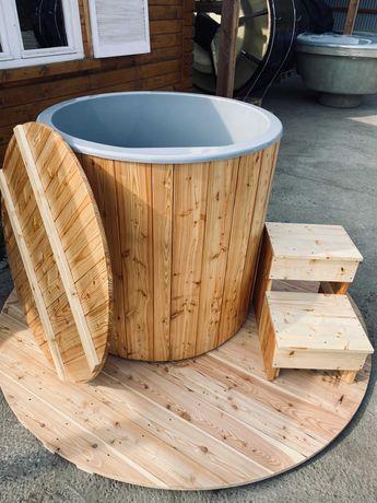 beczka do schładzania po saunie morsowanie balia drewniana