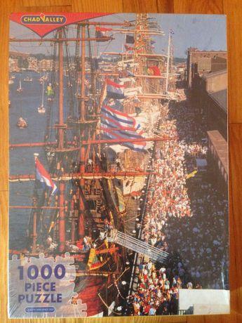 Puzzle 1000 - statki, żaglowce,  Amsterdam