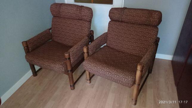 Fotel drewniany radomsko PRL 2 szt