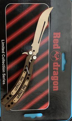 Деревянный нож бабочка(детская игрушка) Red Dregan