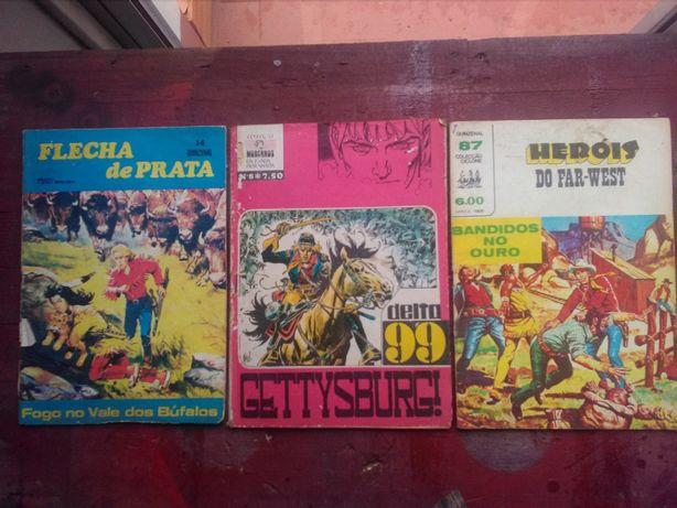 Revistas antigas de cowboy e outros