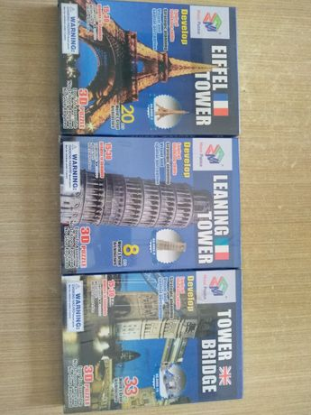 Puzzle 3D Paris Londres Pisa