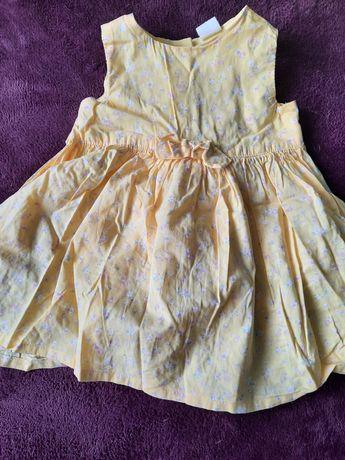 Letnia sukienka z H&M dla dziewczynki rozmiar 74