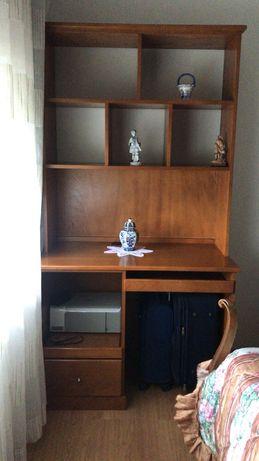 Estante quarto ou escritotio com secretaria, madeira maciça!