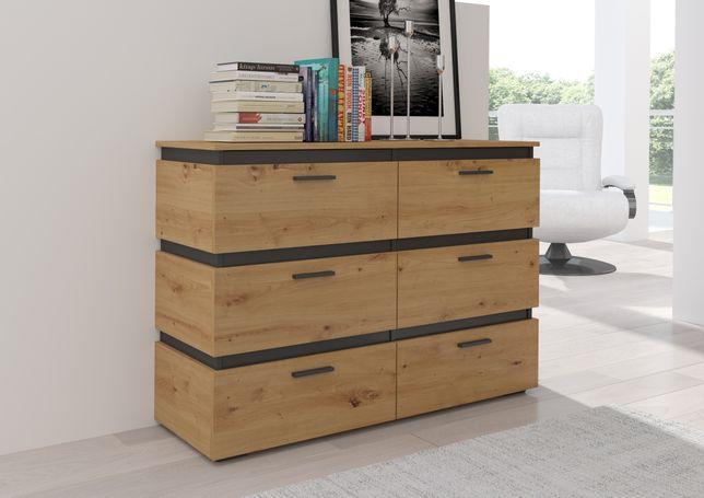 Komoda Faro 6S 84x120, nowoczesny design, pokój, sypialnia