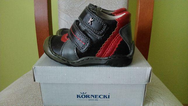 Półbuty buciki skórzane KORNECKI r. 21-wkładka 13,5cm.