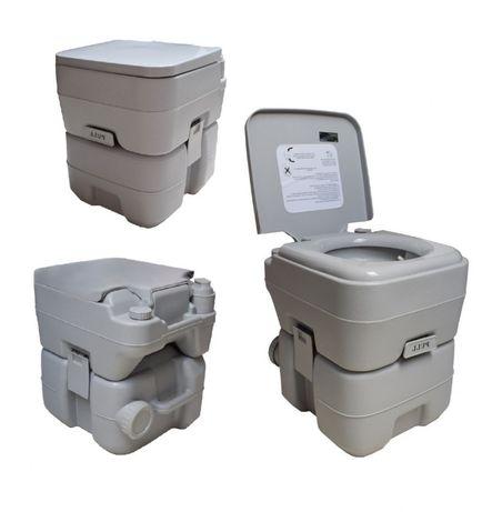 Toaleta Turystyczna Kempingowa Przenośna 20L 130kg Udźwigu