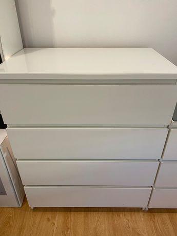 Cómoda MALM IKEA branca 4 gavetas