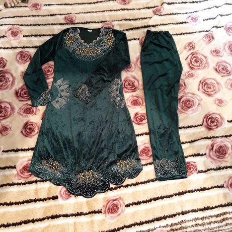 Восточное платье +штаники( восточный набор ,костюм)48 розмера