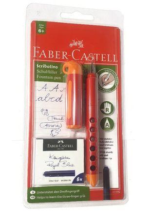 PIÓRO FABER-CASTELL dla praworęcznych pomarańczowe