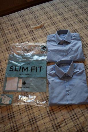 Рубашка короткий рукав Marks&Spenser Slim Fit на 6-7 лет