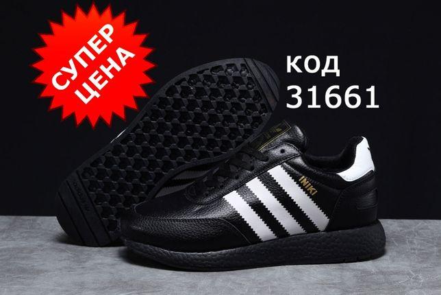 Зимние мужские кроссовки Adidas Iniki-3166 натуральный мех (4_цвета)