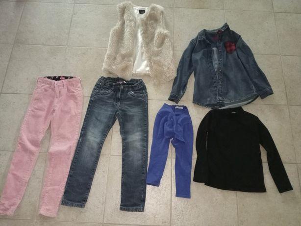 Colete, calças e casaco de marca