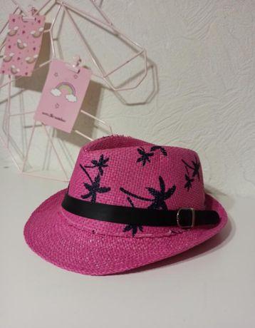 Стильная детская шляпа с полями и пальмами