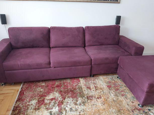 Narożnik / sofa/ bordowy