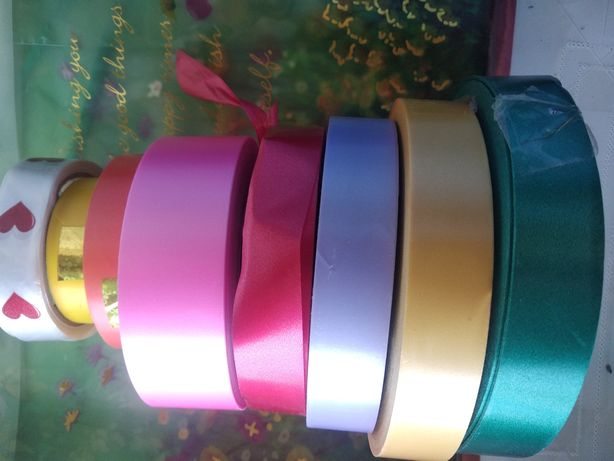 Лента упаковочная  , 9 цветов , полиэтиленовая