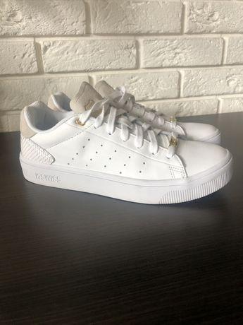 Sneakersy, adidasy, białe, skóra naturalna, nowe, piękne! 41
