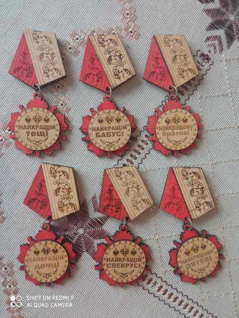 Сувенір медаль магніт з дерева