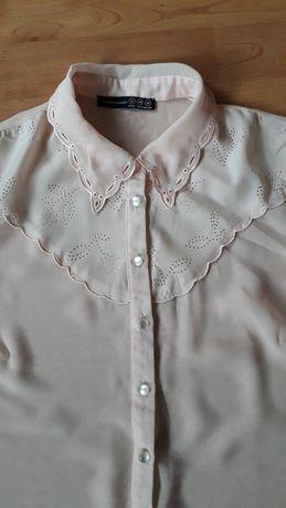 Pudrowo różowa bluzka retro Atmosphere 34/36 haft