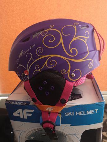 Kask narciarski 4F rozmiar xs 53-54 Fioletowy