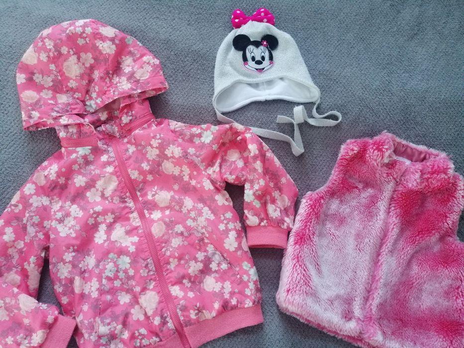 Komplet kurtka, kamizelka i czapka dla dziewczynki 98 Zabierzów - image 1